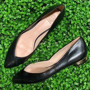 Tory Burch Black Pointed Toe Flats